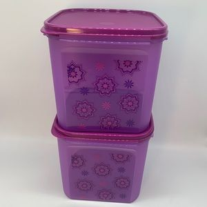 Tupperware Modular Mates Square #3 Set of 2
